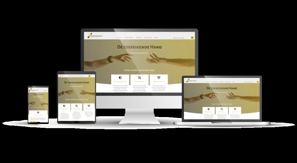 Webdesign De toereikende Hand